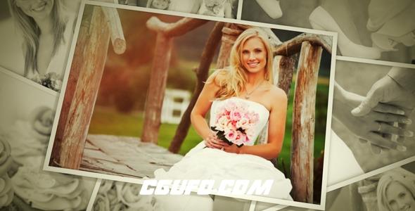 2759唯美婚礼相册图片展示动画AE模版,wedding photos