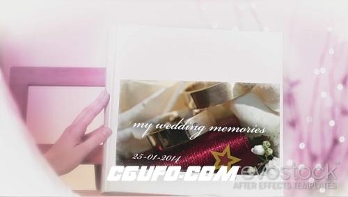 2761婚礼相册图片展示动画AE模版,Wedding Photo Album Live Video