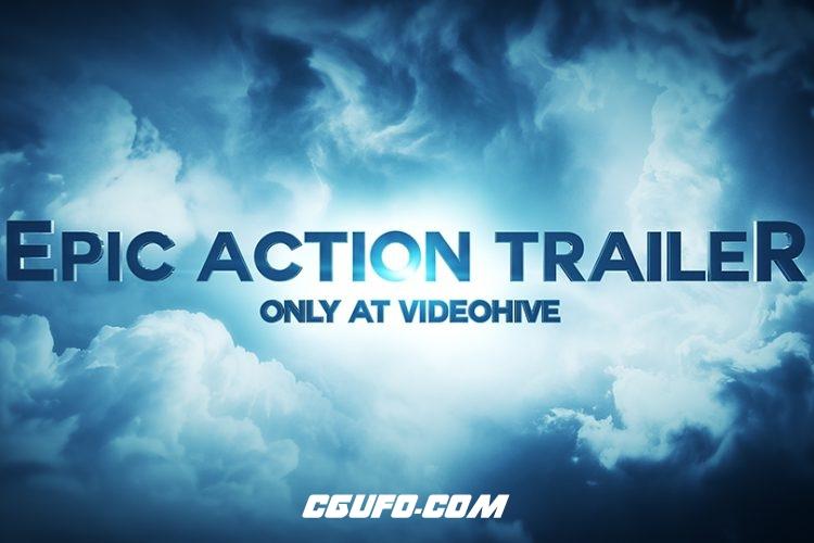 2766史诗级电影文字标题动画AE模版,Epic Action Trailer