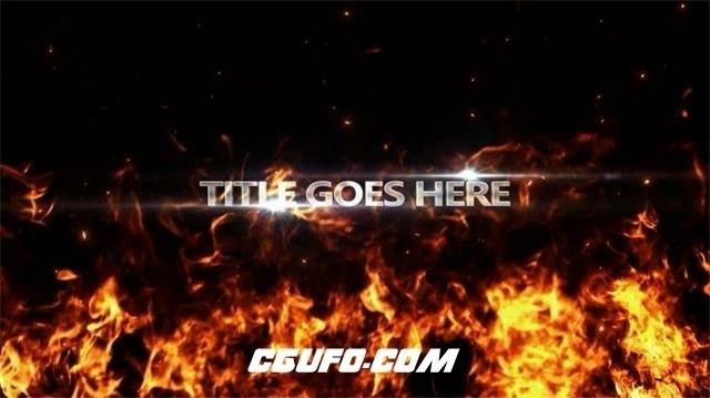 2769烈火燃烧文字标题动画AE模版,Fire Trailer