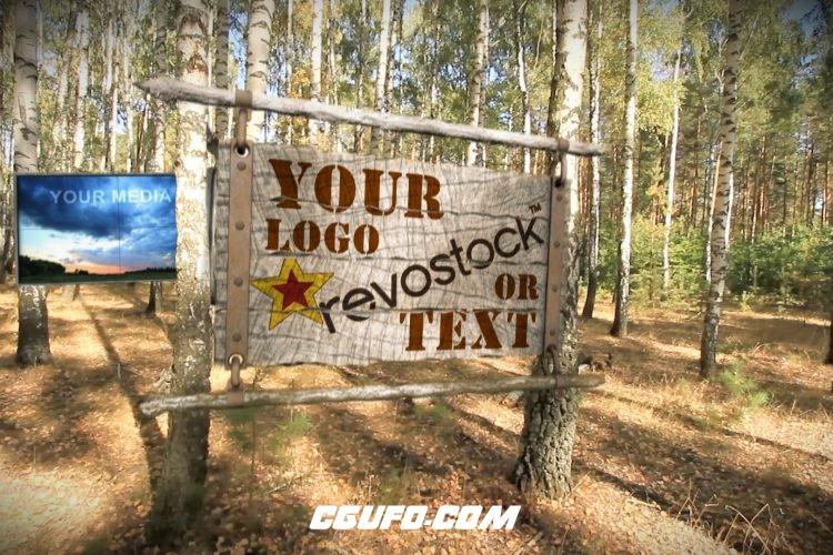 2771森林屏幕视频展示动画AE模版,Birch Grove