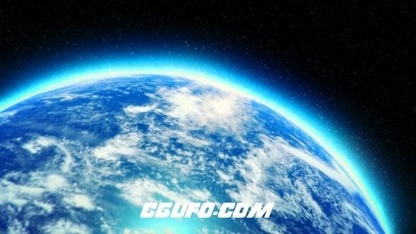2778从宇宙穿越地球logo演绎动画AE模版,Earth Zoom Logo