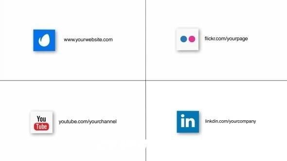 2781社交媒体logo演绎动画AE模版,Logo & Social Media Intro