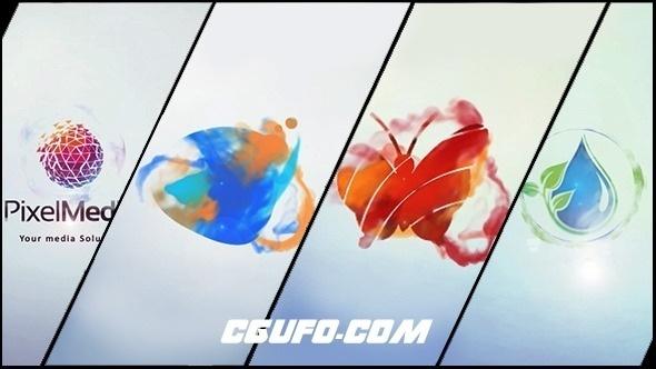 2786迷你logo演绎特效动画AE模版,Minimal Logo V03 Ink Ident