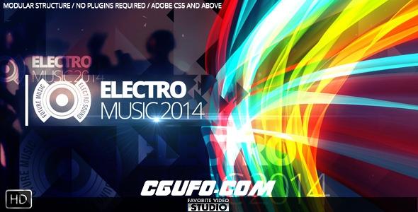 2788音乐类音乐风格电视栏目包装动画AE模版,Future Music Fest