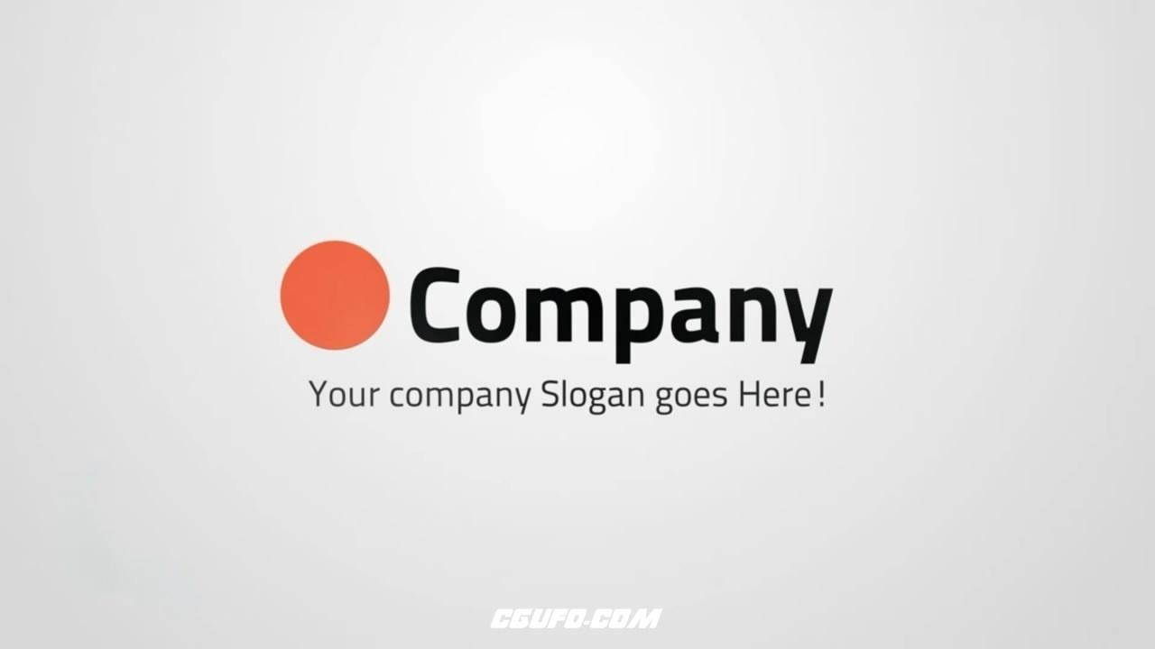2805简洁logo演绎动画AE模版,Clean Minimalistic Logo Flip Reveal