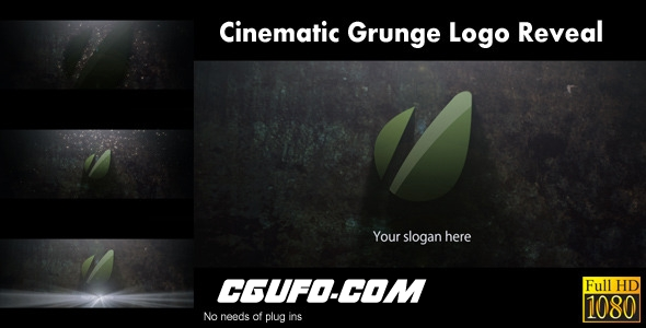 2818电影包装logo演绎动画AE模版,Cinematic Grunge Logo Reveal