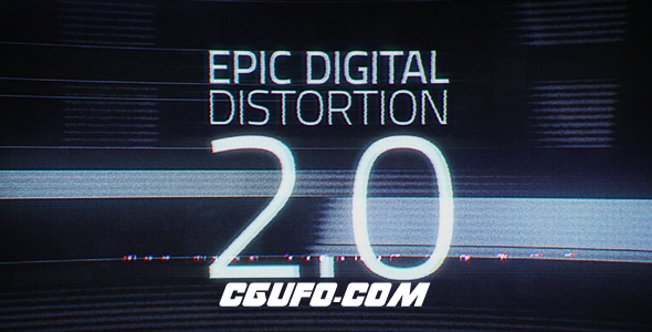 2833科技震撼文字特效动画AE模版,Epic Digital Distortion