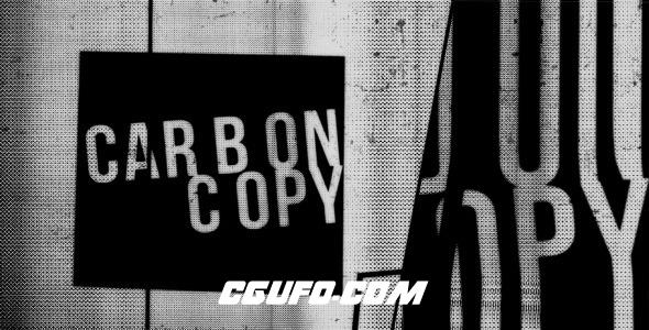 2844创意文字特效动画AE模版,CarbonCopy Type Promo