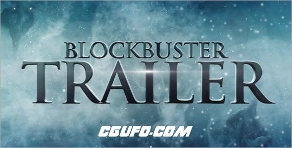 2848电影预告片标题文字特效动画AE模版,Blockbuster Trailer 7