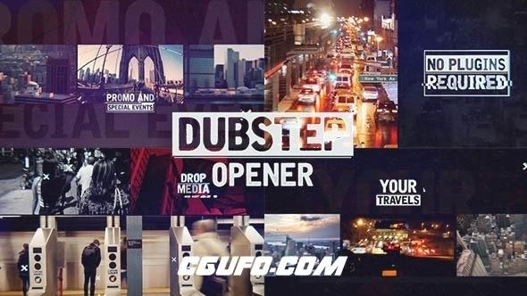 2849城市宣传片包装动画AE模版,Dubstep Urban Opener