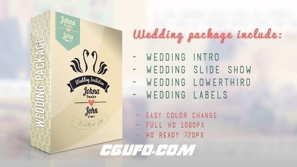 2863婚礼相册包装动画AE模版,Wedding Package