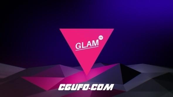 2881时尚创意电视栏目包装动画AE模版,Glam TV