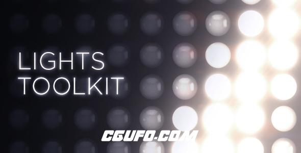 2901背景灯光特效动态背景动画AE模版,Animated Lights Kit