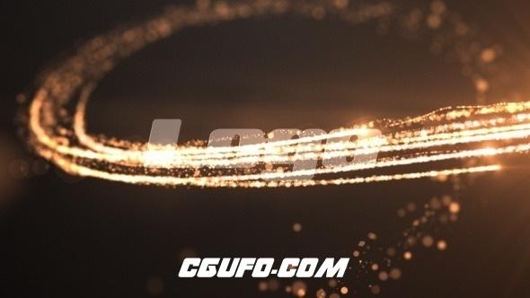2902粒子光线特效logo演绎动画AE模版,particle swirl logo