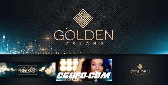 2907时尚金色粒子特效图片视频包装动画AE模版,Fashion 3 Golden Dreams