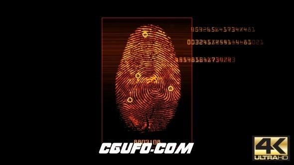3099-4K指纹扫描动画高清视频素材,Fingerprint Scan v3