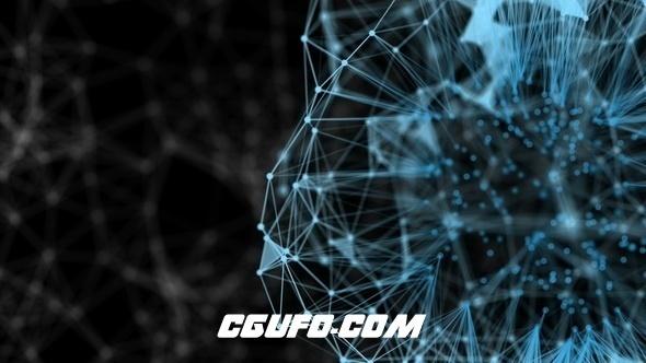 3103高科技风格动态背景高清视频素材,Abstract Cloud Connection