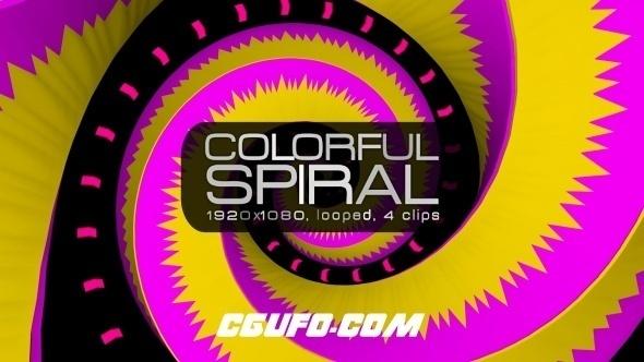 3104炫彩螺旋VJ动态背景高清视频素材,Colorful Spiral VJ Pack