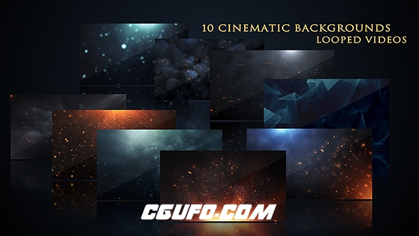 3108电影风格动态背景高清视频素材,Cinematic Background Pack