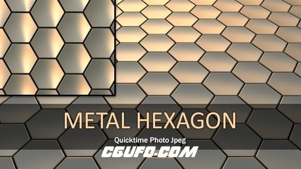 3111金属六边形动态背景高清视频素材,Metal Hexagon Loop