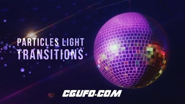 3118粒子灯光转场过渡特效高清视频素材,Particles Light Transitions
