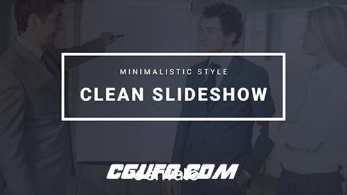 7354简洁公司企业文字标题动画AE模版,Clean Corporate