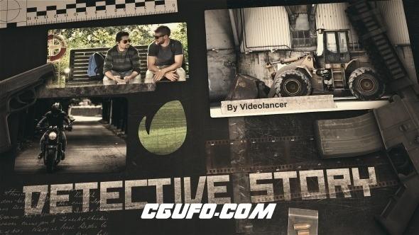 7357侦探小说片头动画AE模版,Detective Story