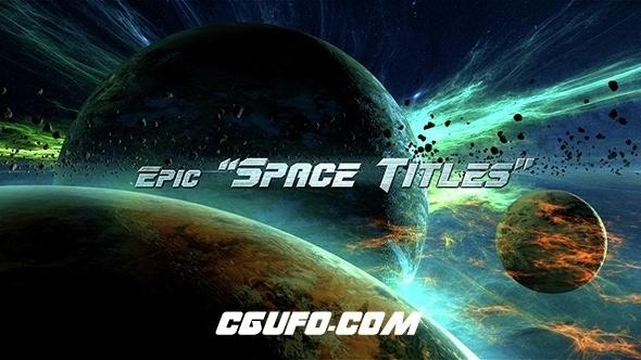 7374史诗级宇宙空间标题文字特效动画AE模版,Epic Space Titles