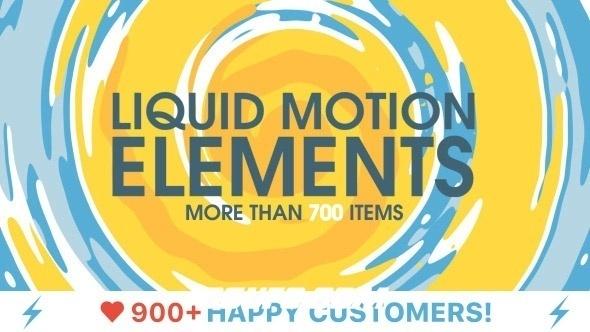 7375流体MG动画卡通元素包AE模版最新版8月份更新,Liquid Motion Elements