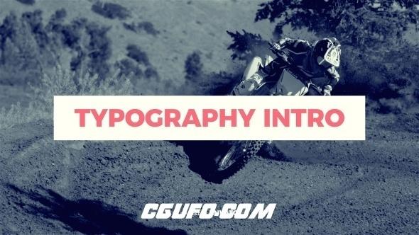 7377动态图片文字标题开场特效动画AE模版,Typography Intro