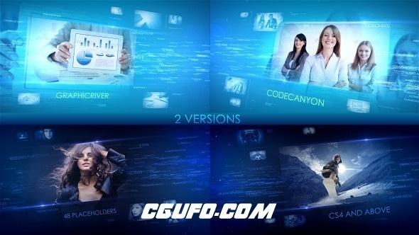 7380数字科技型企业宣传片视频包装片头AE模版,Digital Words