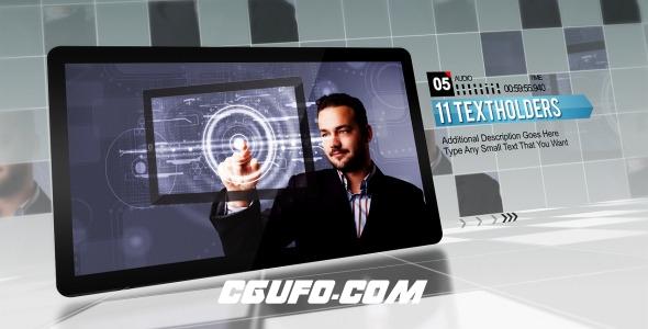 7391企业公司宣传片包装网格风格动画AE模版,Corporate Grid