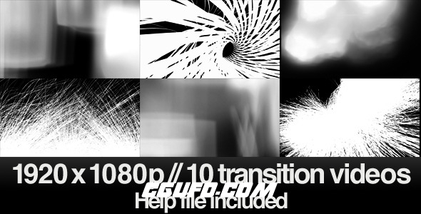 7397-10组创意转场特效带Alpha和亮度通道高清视频素材,10 HD Transitions Bundle – E