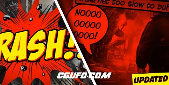 7400连环画风格动画AE模版,Comic Strip