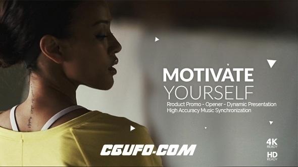 7405创意视频特效开场动画AE模版,Workout Motivation Opener