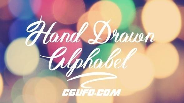7413手绘字母动画AE模版,Hand Drawn Alphabet