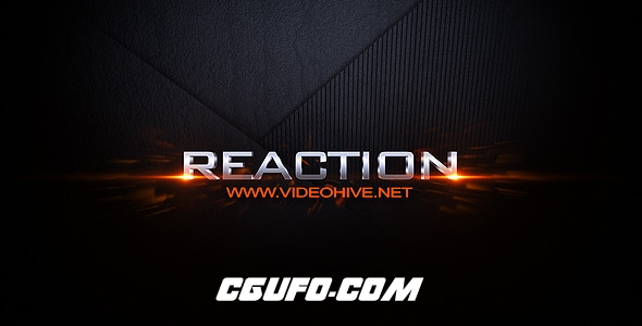 7418破碎汇聚文字标题动画AE模版,Reaction Reveal