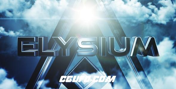 7419大气电影级文字标题动画AE模版,Elysium – Cinematic Trailer