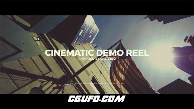 7442电影胶片质感图文展示视频动画AE模版,Cinematic Demo Reel