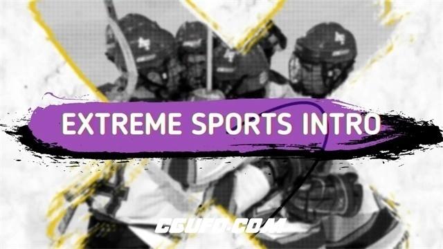 7444体育运动风格图文展示动画AE模版,Extreme Sports Intro