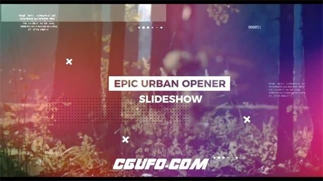 7449城市宣传片开场动画AE模版,Urban Opener