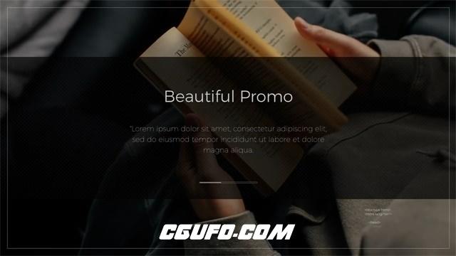 7451大气震撼图文展示动画AE模版,Beautiful Promo