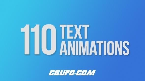 7459-110组文字标题动画AE模版,110 Text Animations