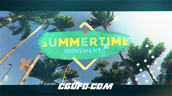 7460夏季旅游视频图片展示动画AE模版,Summertime Movements – Bright Opener