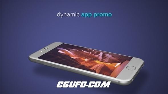 7461手机APP简介宣传动画AE模版,Dynamic App Promo