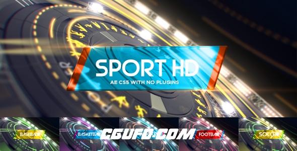 7462体育电视栏目包装动画AE模版,6 in1 Multi-Sport Intro Pack