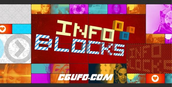 7495创意电视栏目包装动画AE模版,INFO Blocks