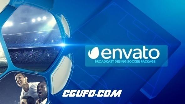 7499足球类电视栏目包装动画AE模版,Broadcast Soccer Package