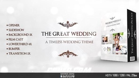 7507婚礼爱情相册展示动画AE模版,The Great Wedding Pack